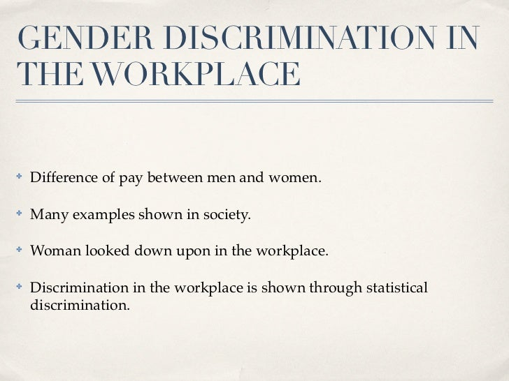 eliminating discrimination in the workplace essay To figure out a good thesis statement on discrimination for i will give an example the work of this two writers essay on racism way and eliminate.