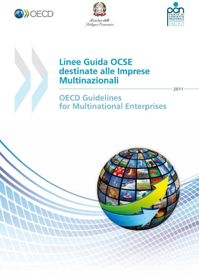 La qualità della versione italiana delle Linee Guida OCSE destinate alle imprese multinazionali, Edizione 2011,e la sua co...