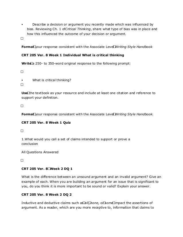critical reading text crt assignment answers key