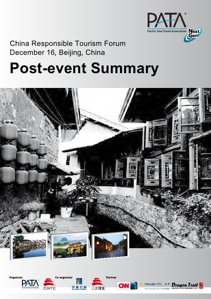 "China Responsible Tourism Forum December 16, Beijing, China""Summary of 1st China Responsible Tourism Forum"" Post-event Sum..."