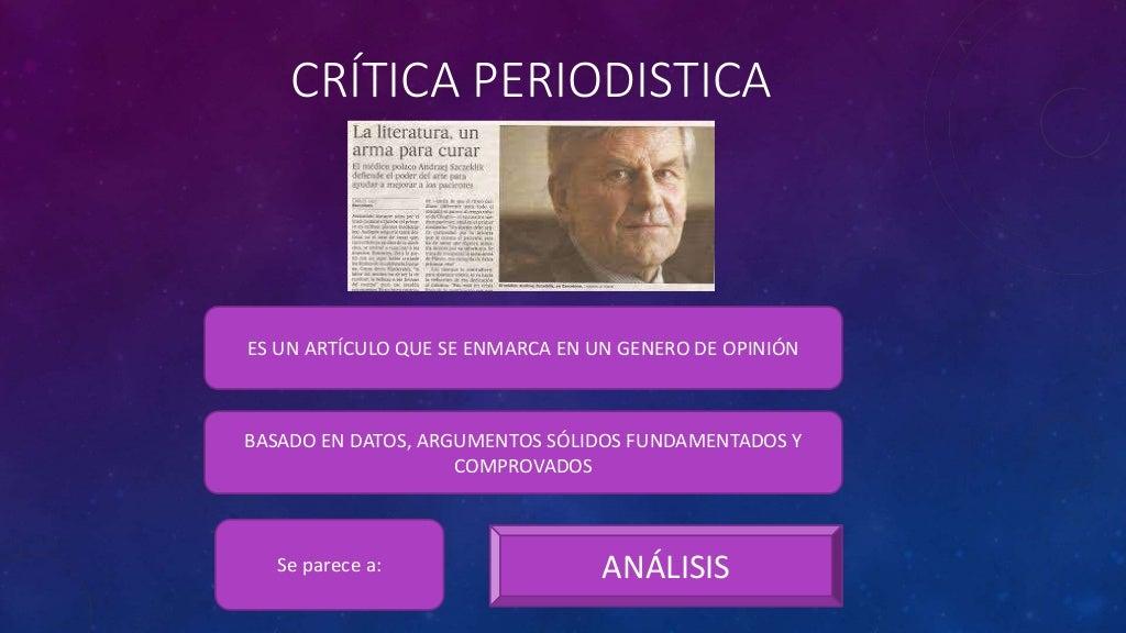 LA CRITICA PERIODISTICA PDF