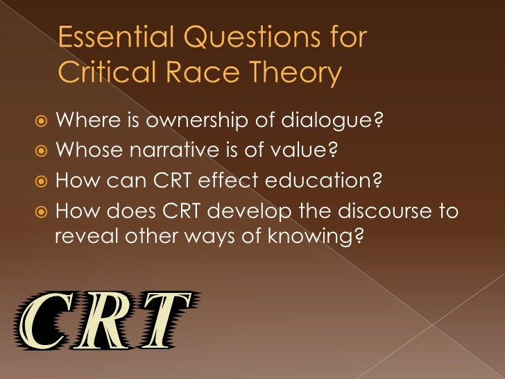 Critical Race Theory Week 2