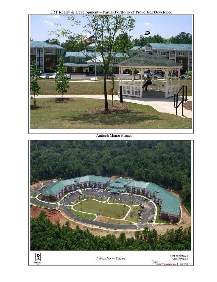 CRT Realty & Development – Partial Portfolio of Properties Developed                              Antioch Manor Estates