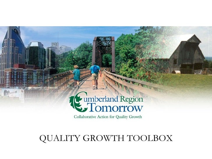 QUALITY GROWTH TOOLBOX