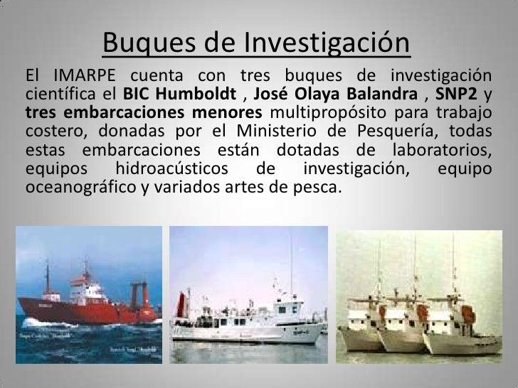 Crucero oceanografico regional for Ministerio de pesqueria