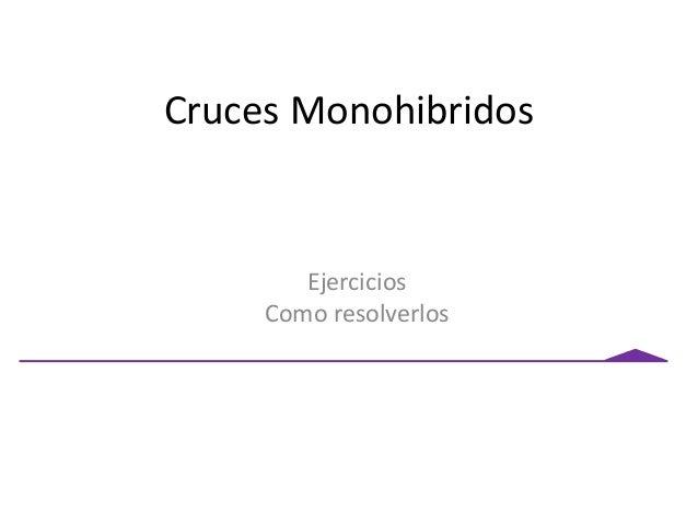 Cruces Monohibridos Ejercicios Como resolverlos