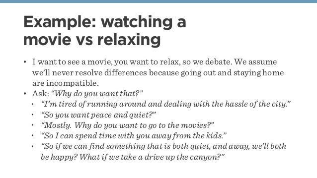 Example Watching A Movie Vs