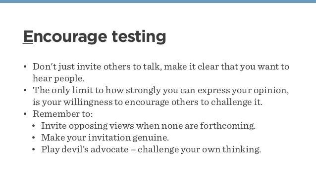 Encourage conversation