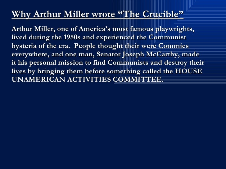 death of the innocent in the crucible by arthur miller The crucible arthur miller  attempted murder when she plots elizabeth's death  — abigail shifts the focus away from herself by accusing others of witchcraft   abigail thinks nothing of the fact that she condemns innocent people to die those .