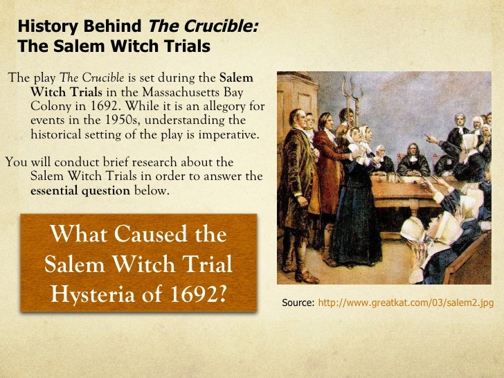 the crucible experience of the salem Try a teacher's guide that provides a synopsis of the crucible, the classic play by arthur miller about the salem and writing about his/her experience.