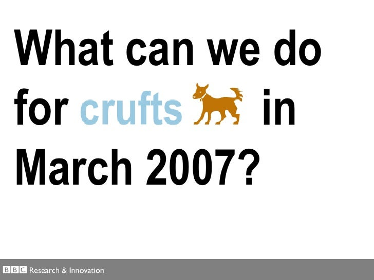 What can we do for  in March 2007?