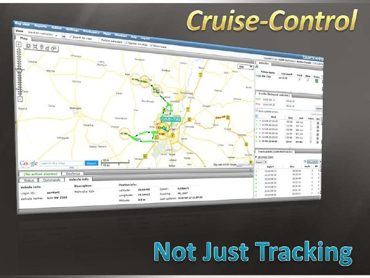 Cruise-Control<br />Not Just Tracking<br />
