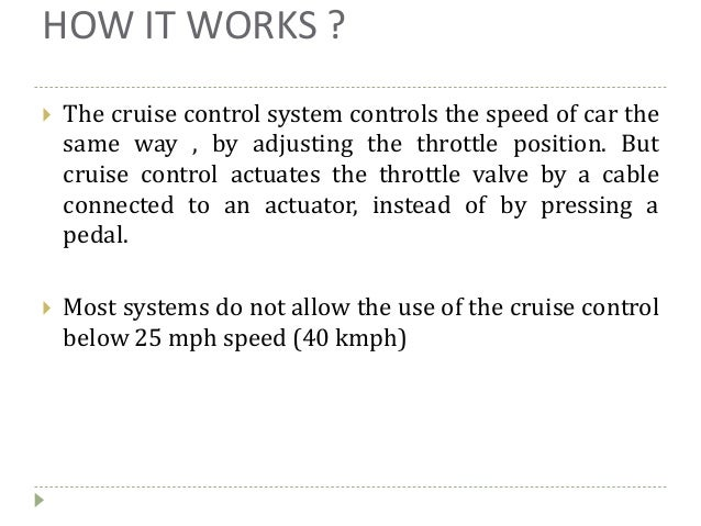 how to build a cruise control