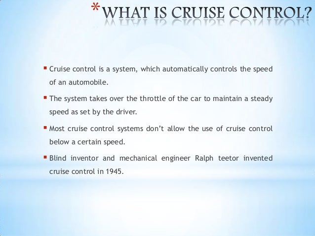 cruise control systems, Wiring block