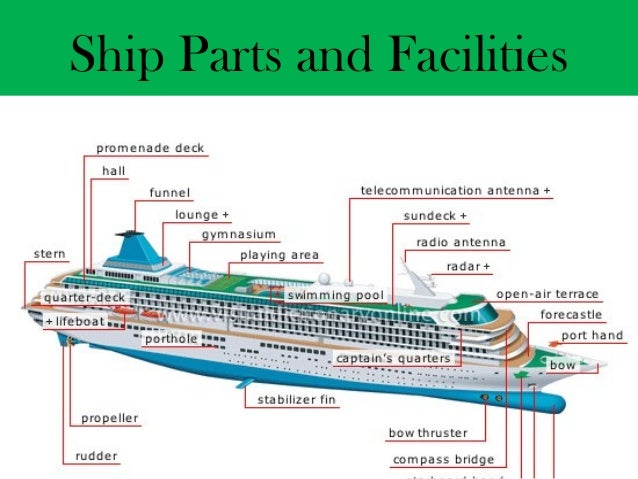 Cruise Sales And Management Module - Diagram of a cruise ship