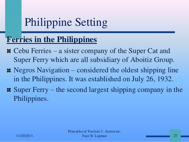 Philippine Setting Ferries in the Philippines Cebu Ferries – a sister company of the Super Cat and Super Ferry which are a...