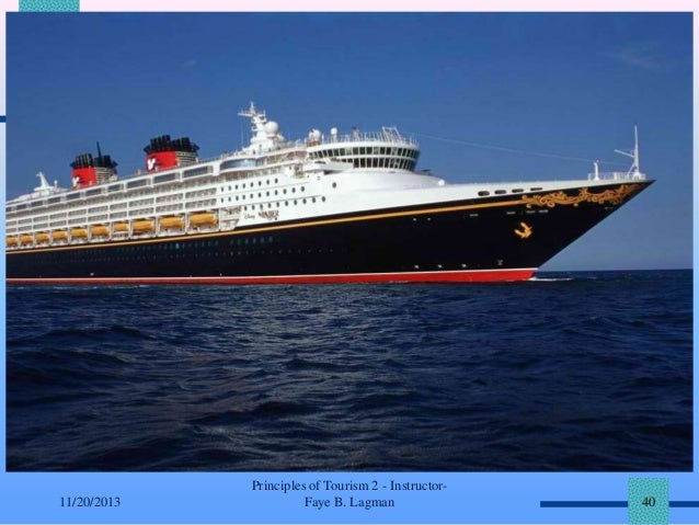 11/20/2013  Principles of Tourism 2 - InstructorFaye B. Lagman  40