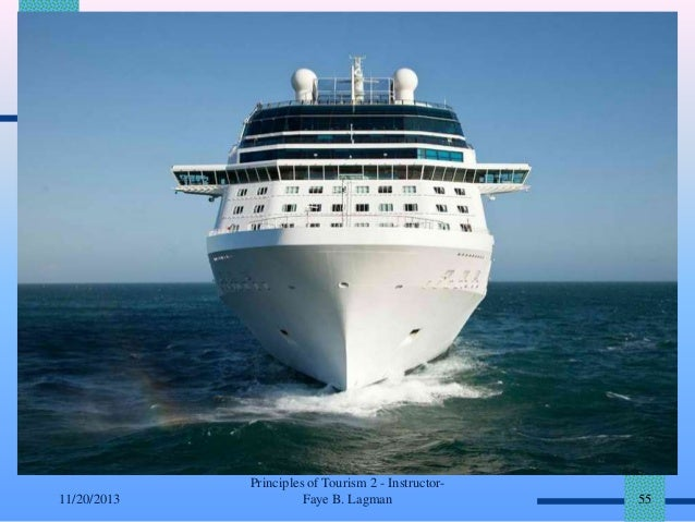 11/20/2013  Principles of Tourism 2 - InstructorFaye B. Lagman  55