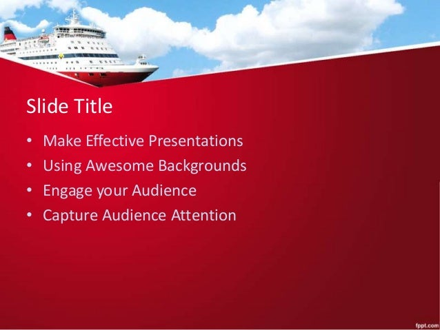 cruise ship powerpoint background and ppt template for presentations