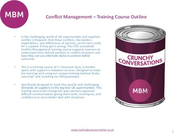 conflict management course outline pdf