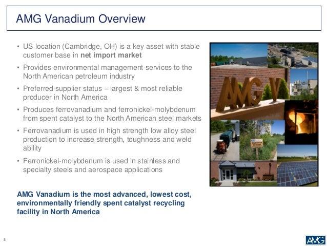 Vanadium Industry Outlook - October 2015