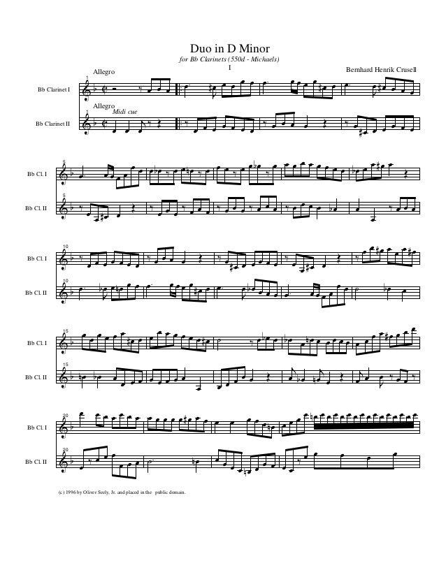 & & b b C C .. .. Bb Clarinet I Bb Clarinet II Allegro Allegro 1 Ó ‰ œ œ œ 1 Midi cue œ œ j œ ‰ Œ .œ J œ# œ œ œ œ ‰ œ œ œ ...