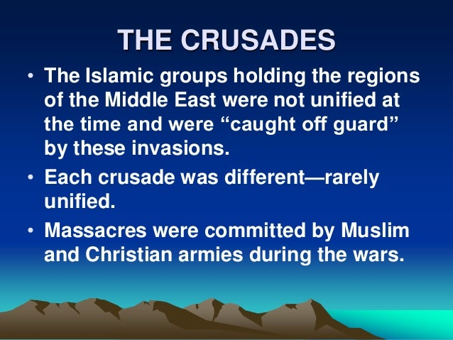 technological advancements from the crusades Some view the crusades as wars of bloodlust, greed, and power war is an escalated conflict of interest usually over money and/or resources the outcome of war is that one culture advances due to newly acquired resources or advancements made from the war.