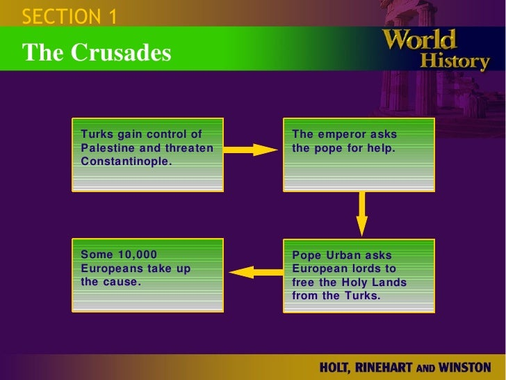 the first crusade cause and effect Although the crusades are often spoken about today as european or christian religious oppression of the islamic world, the effects of the crusades on both europe and the middle east were actually.