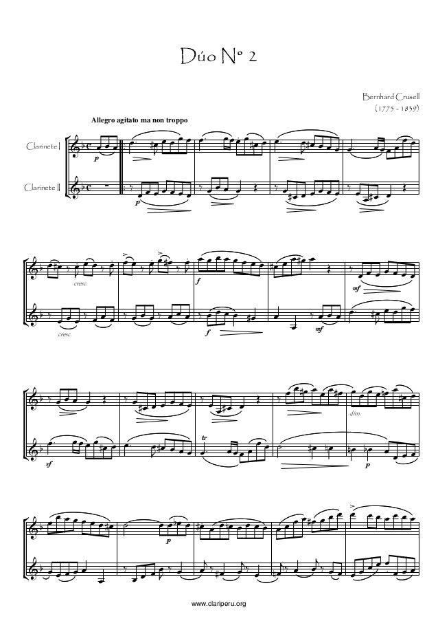 Allegro agitato ma non troppoBernhard Crusell(1775 - 1839)Dúo N° 2Clarinete IClarinete IIp        ...