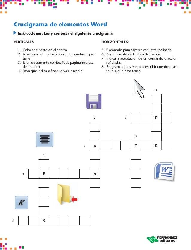 Crucigramas De Informatica