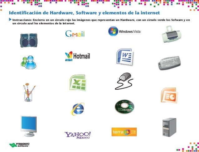 Crucigramas de inform tica for Elementos de hardware