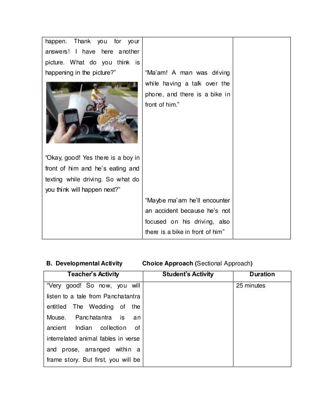 Detailed Lesson Plan in Teaching Listening and Speaking