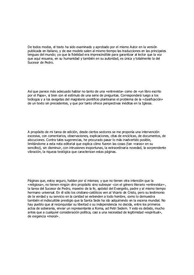 De todos modos, el texto ha sido examinado y aprobado por el mismo Autor en la versión  publicada en italiano, y de ese mo...