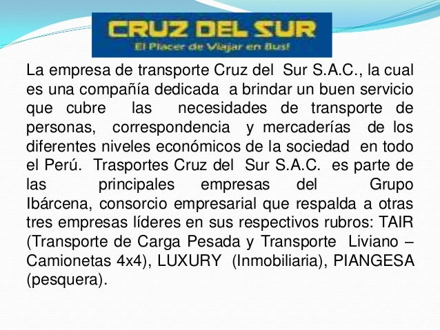 Cruz del sur cristina for Empresas de transporte en tenerife
