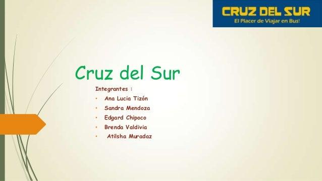 Cruz del SurIntegrantes :• Ana Lucia Tizón• Sandra Mendoza• Edgard Chipoco• Brenda Valdivia• Atilsha Muradaz