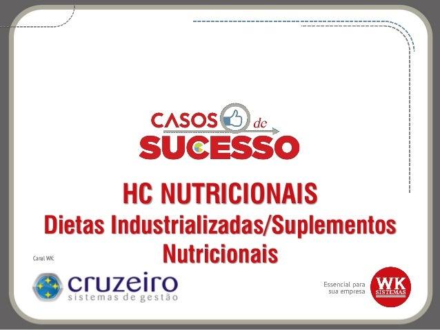 HC NUTRICIONAIS Dietas Industrializadas/Suplementos NutricionaisCanal WK: