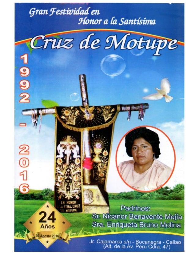 FESTIVIDAD EN HONOR A LA CRUZ DE MOTUPE 2016