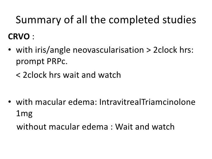 Crvo study results