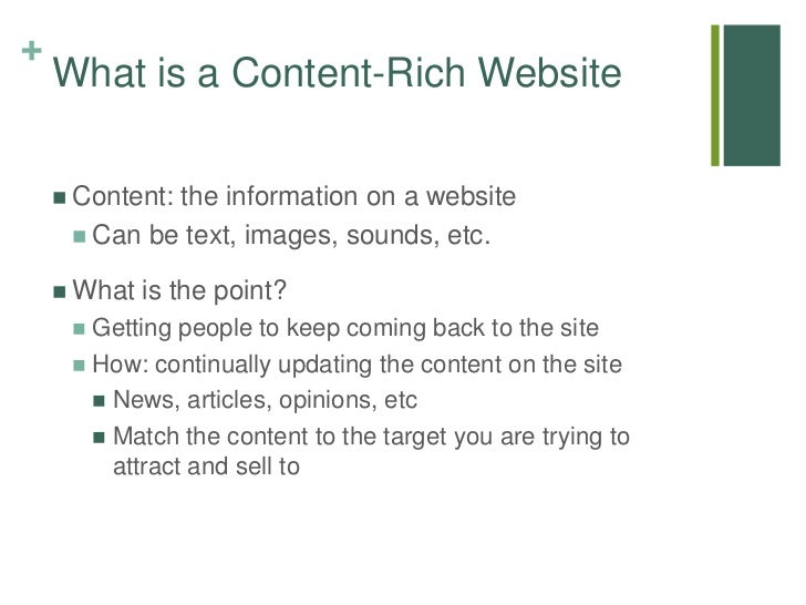 Websites for the rich