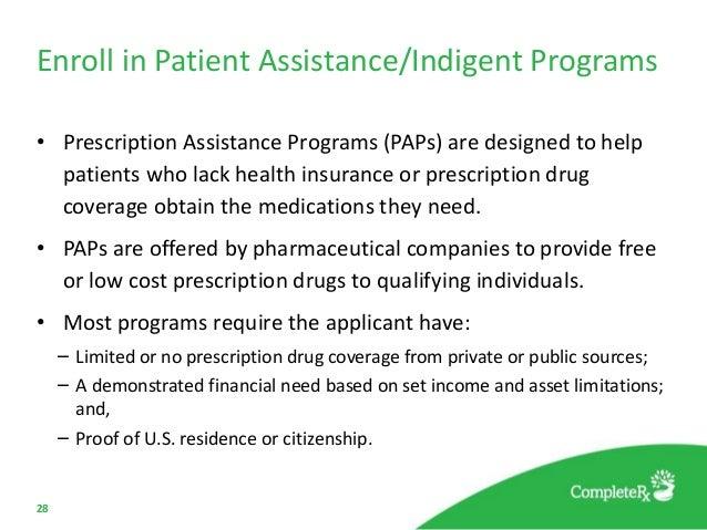 Drug companies assistance programs