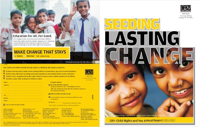 SEEDING CRY- Child Rights and You Annual Report 2011-2012 CRY supported project Vanchit Vikas Sangsta ( , Ahmednagar,VVS) ...
