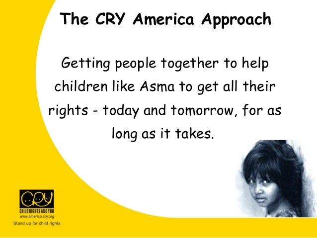 Getting people together to help children like Asma to get all their rights - today and tomorrow, for as long as it takes. ...