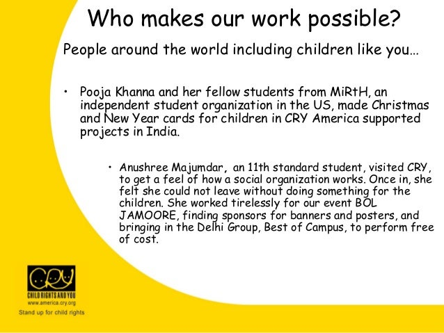 People around the world including children like you… • Pooja Khanna and her fellow students from MiRtH, an independent stu...