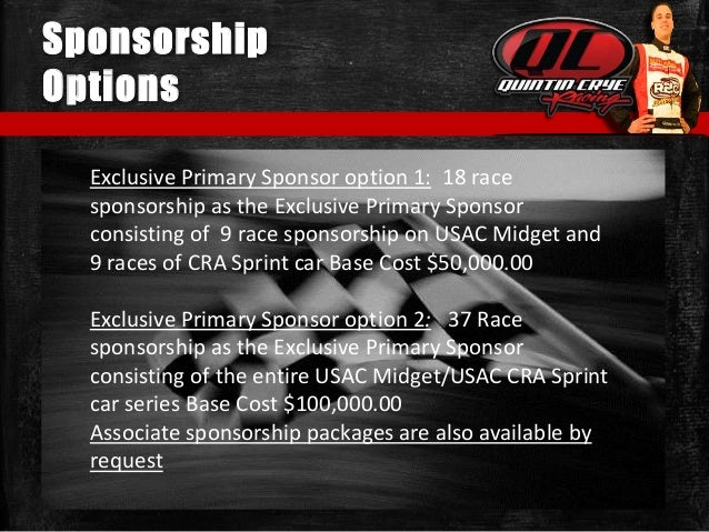 Race Car Sponsorship Proposal Template Idas Ponderresearch Co
