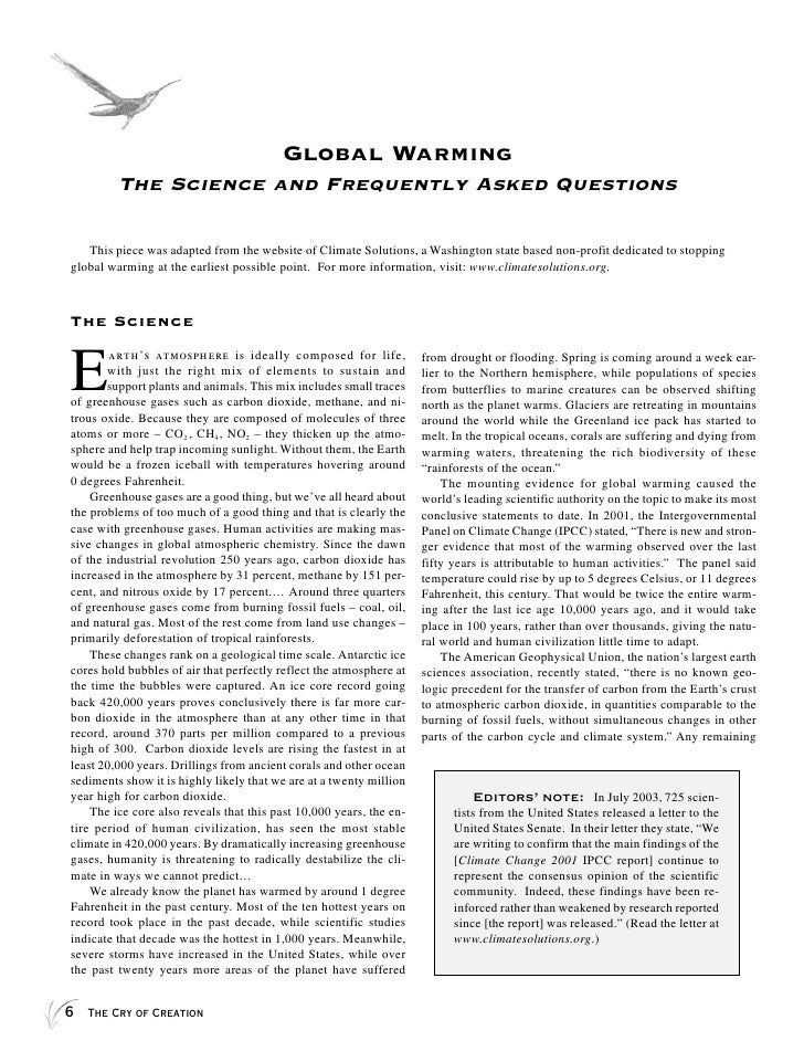 about global warming essay