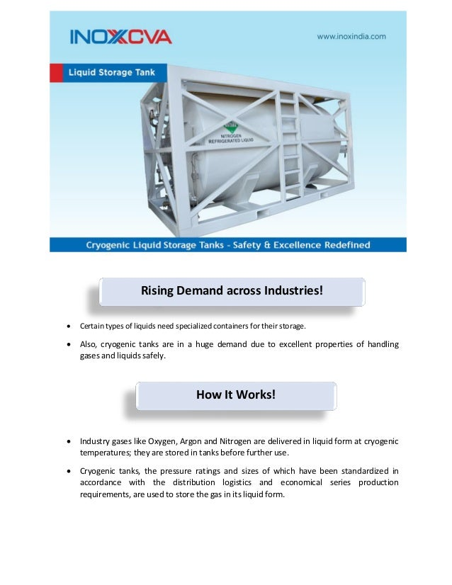 Cryogenic liquid storage tanks safety and excellence redefined