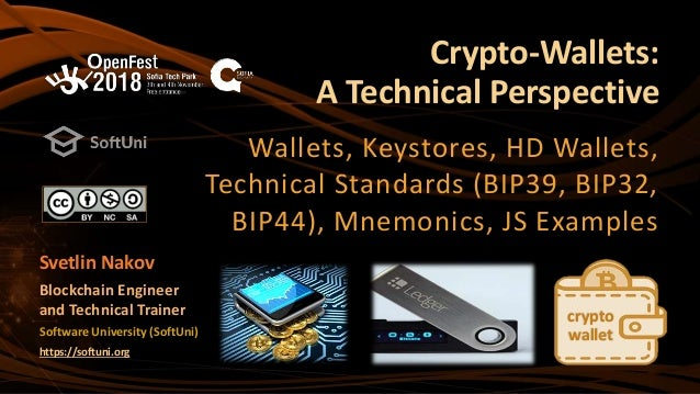 Crypto Wallets: A Technical Perspective (Nakov at OpenFest 2018)