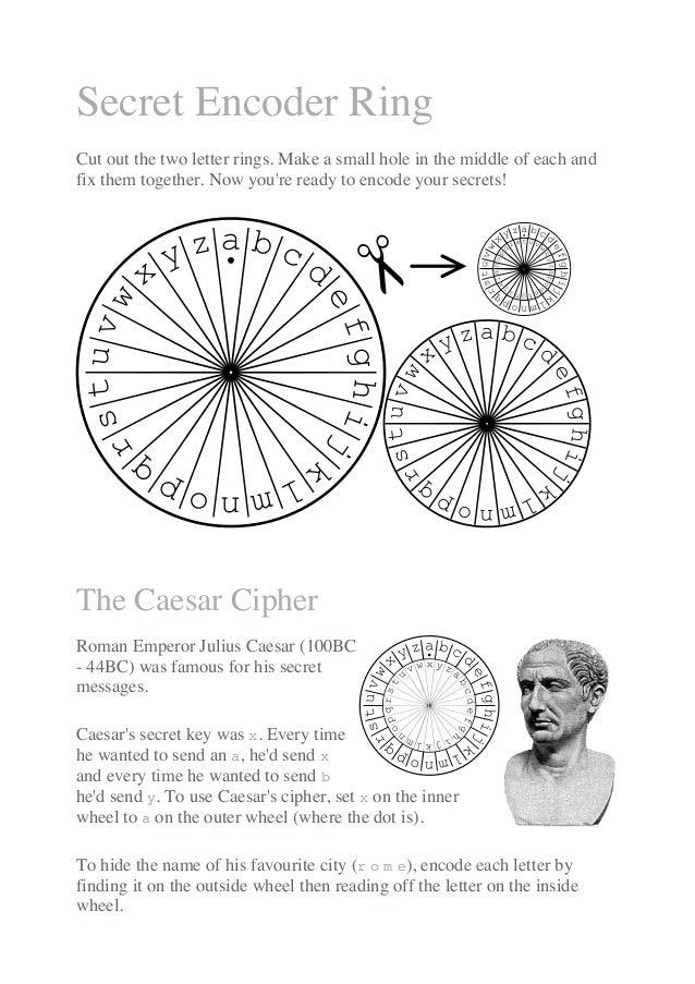 Secret encoder ring