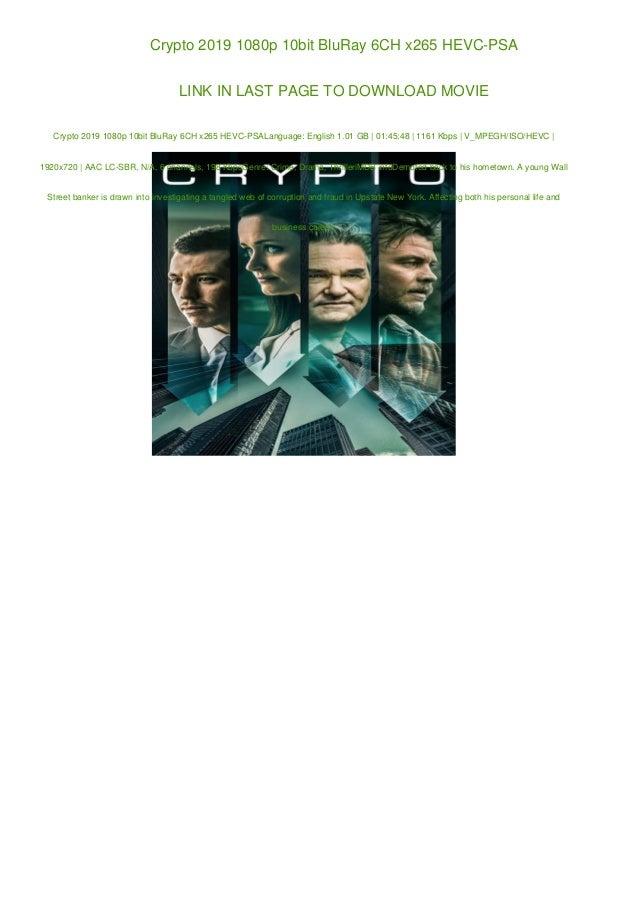 Crypto 2019 1080p 10bit BluRay 6CH x265 HEVC-PSA