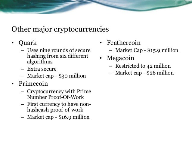 Primecoin cryptocurrency with prime number proof-of-work